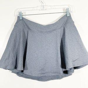 Nike Dri Fit Gray A-Line Athletic Short Skirt Sz M